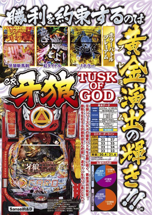 CR牙狼TUSK OF GOD